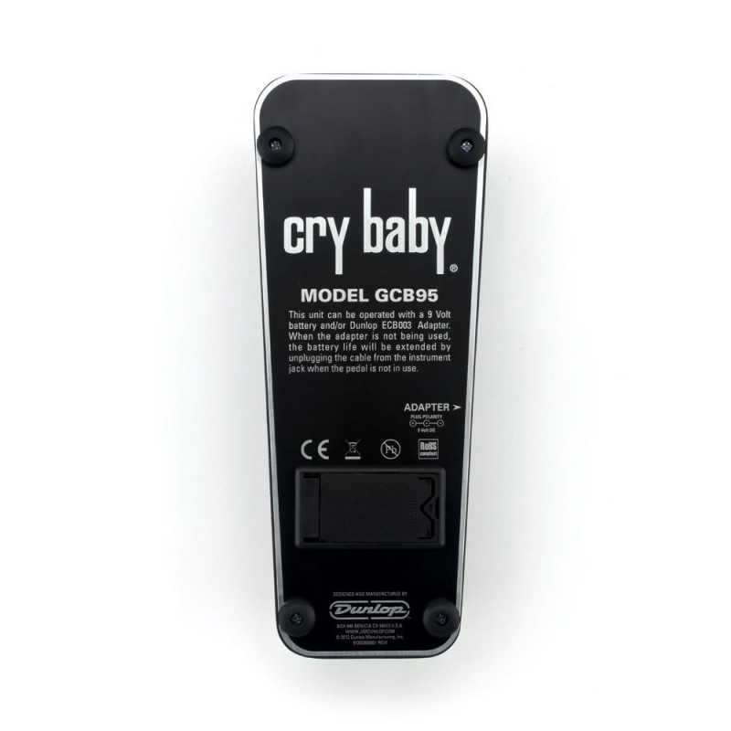 Pedal De Efecto Para Guitarra Dunlop Cry Baby Wah Gcb95